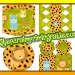 Kit imprimible con Animalitos de Safari para descargar gratis