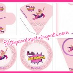 Kit de Barbie Super Princesa para imprimir y decorar