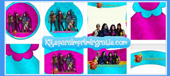 Kit imprimible de Descendientes Disney descarga gratis