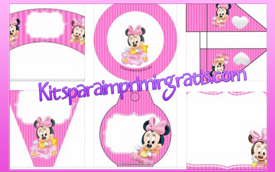 Decoracion Minnie Bebe ~ Decoraci?n de Minnie Bebe  imprimibles de MInnie bebe fiesta